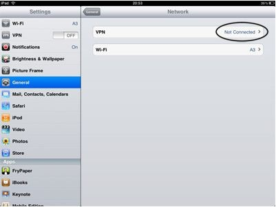 ipad vpn setup